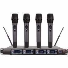 875072520-Wireless Microphone System U4000F Professional Microphone 4 Channel UHF Dynamic Professional 4 Handheld Microphone + Karaoke on JD
