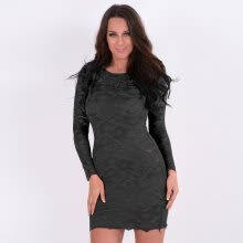 e623c3bfbe3 Women s Sexy Lace Splicing Long Sleeve Summer Spring Autumn Dress Bodycon  Party Clubwear 4 Colors