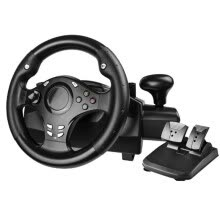 -Computer game steering wheel /car driving simulator training aircraft /test drive school/automobile race Vibration 270 degrees on JD