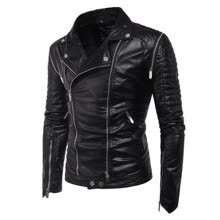fc61a876a76 NEW Brand Men Motorcycle Leather Jacket Men Jaqueta De Couro Masculina Mens  Leather Jackets Zip PU Leather Coats