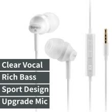 earphones-ErgoFit In-Ear Earbud Headphones Crystal Clear Sound, Ergonomic Comfort-Fit wired mobile Earphones on JD