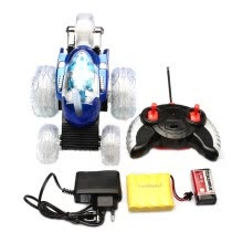 875061538-STUNT CAR 360 SPIN REMOTE CONTROL CAR MUSIC LED LIGHTS RECHARGEABLE Eu plug on JD