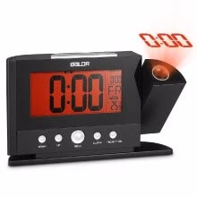 8750202-Rotatable Digital Projection Clock with Large Screen Display Date Time Temperature Excellent Multifunctional LCD Alarm Clock on JD