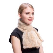bdb3aa259e8db MS.MinShu Hand Knitted Mink Fur Scarf Fashion Real Fur Scarf Wraps Woven  Women Neck Warmer Luxury Mink Fur Shawl Winter Scarf