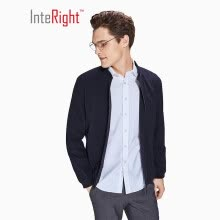 -INTERIGHT Men's Light Business Stand Collar Commuter Jacket Navy XXL Code on JD