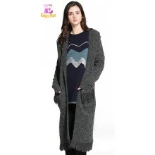 -XL XXL 3XL 4XL 5XL plus size rabbet casual new autumn winter 2018 gray long women sweaters cardigan big size hooded knitted lady on JD