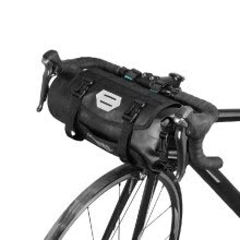 -ROSWHEEL Bicycle Bag Waterproof Cycling Mountain Road MTB Bike Front Frame Handlebar Pannier Dry Bag with Roll Top Closure 3L-7L A on JD