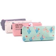 -Fashion New School Supplies Cosmetic Large Capacity Flamingo Pencil Case Zip Coin Bag Canvas Makeup Pouch on JD
