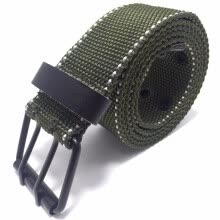 -Men Fashion Double Pin Buckle Nylon Tactical Belt on JD