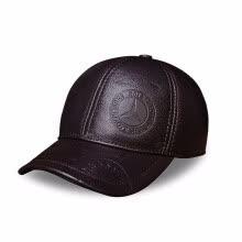 e450190ece9 Men s Spring genuine leather men baseball cap hat high quality men s real  leather adult solid adjustable snapback earsflap hats