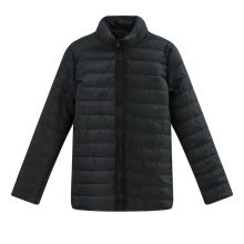 -Women Down Jackets, solid color cotton-padded coat on JD
