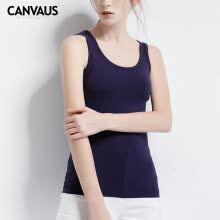 069fdafb49 Canvaus Summer New Women Solid Sport Style Slim Bottoming Vest Cotton  Camisole Tanks Tops