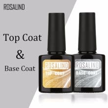 -ROSALIND 10ML Top Coat Base Coat Gel Nail Polish Gel Polish Nail Art UV LED Soak-Off multi-use gel lacquer on JD