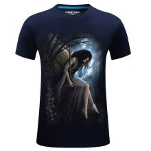 -Hot Sale Mens Fashion 3d T Shirt Homme Skull Printed O-neck Short Sleeve Cotton tshirt Street Wear Hip Hop Tees Plus Size S-6xl on JD