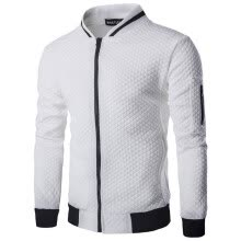 -Men's Active Jacket Coat Long Sleeve Casual Patchwork Stand Collar Zipper Sweatshirt on JD