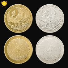-Japanese traditional culture phoenix nirvana commemorative coin bird scales wishing phoenix coins craft gift on JD