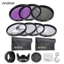 lens-filters-Andoer 55mm UV CPL FLD Close Up( 1 2 4 10) Lens Filter Kit with Carry Pouch   Lens Cap   Lens Cap Holder   Tulip   Rubber Lens Hoo on JD