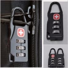 safety-protection-fittings-2pcs All Metal Precision Portfolio Padlock Travel Bag Backpack Zipper Bag Three Password Padlock Anti - Theft Supplies on JD