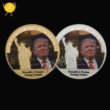 8750207-American 45th President Donald Trump Coin US White House The Statue of Liberty Metal Coin Collection Gold/Silve New on JD