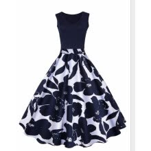 39360658f6702 New Arrival Women Fashion Cocktail Party Prom Dress Sleeveless Floral Print  Dress