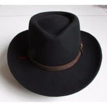 1a31d07ce76 Men and Women 100% Wool Cowboy Hat Riding Fedoras Cap Adult Elegant Wool  Wide Brim Felt Bowler Fedora Panama Hat B-4059