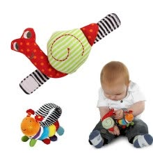 -2 x Wrist Baby Rattles Newborn Baby Toys Cute Animal Wrist Strap With Rattle Educational Infant Toys For 0-12 Months on JD