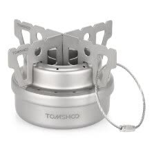 camping-hiking-TOMSHOO Outdoor Titanium Alcohol Stove & Rack Combo Set Mini Ultralight Portable Liquid Alcohol Stove with Cross Stand Stove Rack on JD