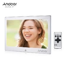 875072536-Andoer 10  LED Digital Photo Frame 720P Video Music Calendar Clock TXT Player 1024 * 600 Resolution Metal Frame with Remote Contro on JD