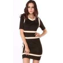 39908df8ab1 Women s Business Style Black Stretch Slim Evening Party Bodycon Ladies Dress  5 Sizes
