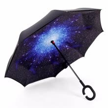 rain-gear-dropshipping Windproof Reverse Folding Double Layer Inverted Umbrella Self Stand umbrella rain women high quality 2018 car on JD