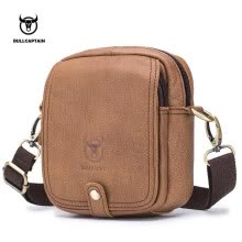 -BULLCAPTAIN Genuine Leather Shoulder Men bag Brand Crossbody Male Bags Male Messenger Bag Small Casual Design Handbags Man Bag on JD