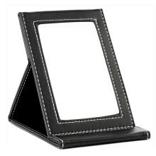-[Jingdong Supermarket] Nika NIKA portable desktop mirror makeup mirror office folding mirror PU high-definition mirror can be folded to carry on JD