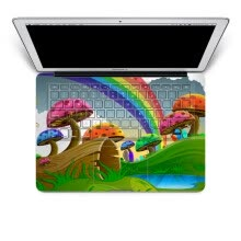 -GEEKID@Macbook Pro retina 15 decal keyboard sticker decal keyboard sticker US style rainbow keyboard protector on JD
