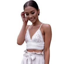 a156ba7668 PREISEI New Summer Women Short Backless Tanks Top Pink White Sexy Slim Lace  Tie V-neck Sleeveless Camisole Vest
