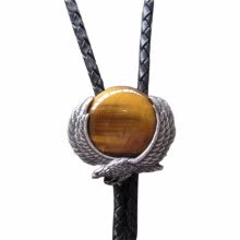 ties-handkerchiefs-Vintage Fly Eagle W Tiger Eyes Stone Wedding Bolo Tie Leather Necklace US Stock on JD