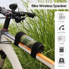 -Rechargeable Bluetooth Speaker Rechargeable Bike Speaker Bicycle Wireless BT Sound Cycling 10 Watt Outdoor BT Speaker Built-in Pow on JD
