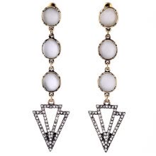 -Aiyaya Vintage Style Freshwater Cultured Pearl Triangle High Quality Cubic Zircon Drop Earrings For Womens on JD