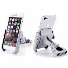 -Aluminum Alloy Motorcycle Phone Holder With Stand Support for iPhone Universal Rearview Mirror Bike Holder Soporte Celular Moto on JD