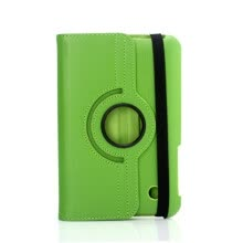 -Green Rotating PU Leather Case Stand Cover For 7' Samsung Galaxy Tab P3100/P3110 on JD