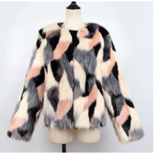 fur-Knitted furry faux fur ladies sweater soft black female jacket autumn and winter furry faux fur coat cardigan on JD