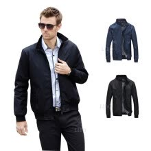 875061886-New Hot  Men's Thin Jacket Slim stand Collar Zipper Casual Basic Short Coat on JD
