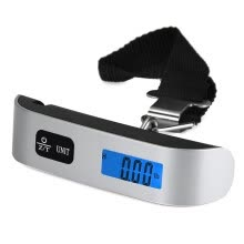 8750201-LCD Mini Luggage Electronic Scale Thermometer 50kg Capacity Digital Weighing Device on JD