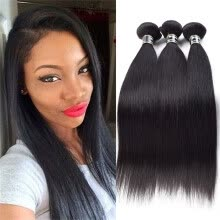 -Star Show Brazilian Virgin Hair Bundles Straight Hair Weave Extensions Virgin Hair Bundles Soft and Bouncy Human Hair Pieces on JD