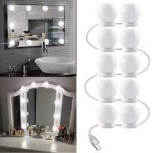 -LED Vanity Mirror Lights Kit, Vanity Lights Makeup Lighting Fixture Strip with 10 Dimmable Light Bulbs, Makeup Vanity Table Set on JD