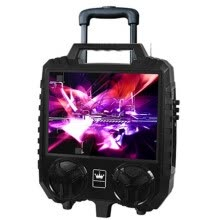 -15 inch HD big screen trolley speaker outdoor portable stereo Bluetooth audio FM radio TF U disk MP3 player karaoke video machine on JD