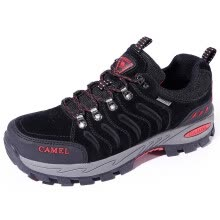 Camel outdoor (CAMEL) outdoor hiking shoes couple non-slip shock absorber  shoes wear low walking shoes A832303155 khaki   black   orange red 42 7479d1cd9a