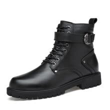 Men s Boots Fashion Casual Boots Genuine Leather Martin Boots High Cut  Shoes For Men Black Size 35-46 5e08733bca