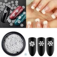 -Christmas 3D Snowflakes Lace Nail Art Stickers Decals Self Adhesive DIY Xmas UK on JD