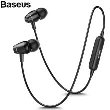 Baseus S09 Wireless Earphone Magnet Earbuds With Mic Stereo Auriculares Bluetooth  Earpiece for Phone iphone Samsung XiaoMi Oneplus 63c748cf6dab1