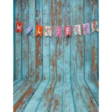 875072536-Blue Wooden Wall Photo Backdrop 5*7FT Vinyl Fabric Cloth Digital Printing Photo Background s-2288 on JD